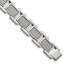Stainless Steel Polished and Brushed Bracelet