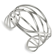 Stainless Steel Polished Cuff Bangle