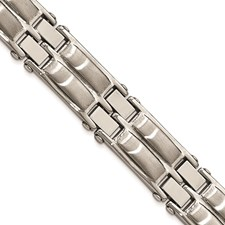 Stainless Steel Polished and Brushed 8.5in Link Bracelet