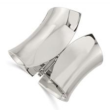 Stainless Steel Polished Hinged Bangle