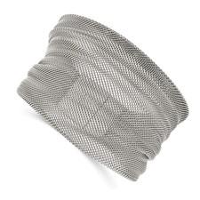 Stainless Steel Polished Mesh Bracelet