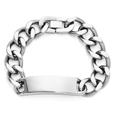 Chisel Stainless Steel Polished ID Bracelet