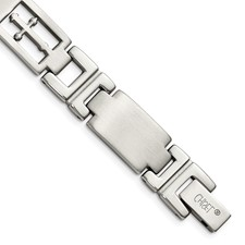 Chisel Stainless Steel Cross and Link Bracelet