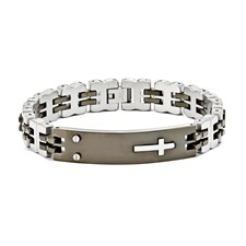 Chisel Stainless Steel and Black Color ID Bracelet