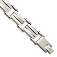 Chisel Stainless Steel Polished and Satin 8.5 inch Bracelet