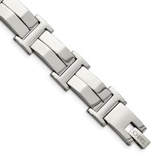 Chisel Stainless Steel Polished 8.5 inch Bracelet