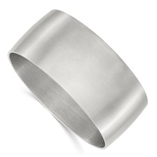 Chisel Stainless Steel Brushed Bangle