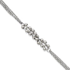 Chisel Stainless Steel Polished Beads 7.25 inch Bracelet