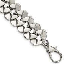 Chisel Stainless Steel Polished Fancy 8.5 inch Bracelet