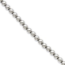 Chisel Stainless Steel Polished Beads 7.5 inch Bracelet