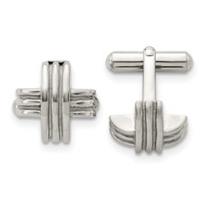 Chisel Stainless Steel Fancy X Cuff Links