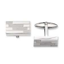 Chisel Stainless Steel Textured Cuff Links
