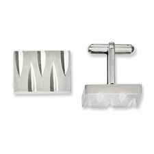 Chisel Stainless Steel Brushed and Polished Cuff Links