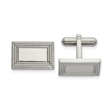 Stainless Steel Polished Rectangular Cufflinks
