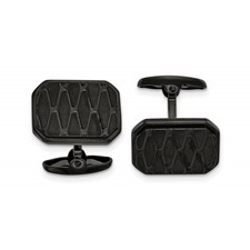 Stainless Steel Brushed and Polished Black IP-plated Cuff Links