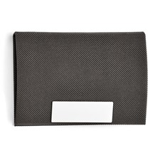 Stainless Steel Polished Imitation Leather Card Holder