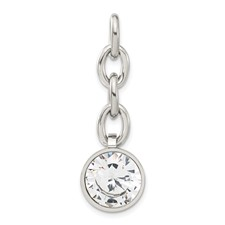 Chisel Stainless Steel CZ Interchangeable Charm Pendant