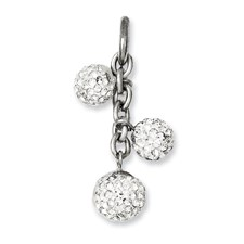 Chisel Stainless Steel Multistone CZ Interchangeable Charm Pendant