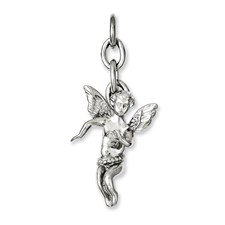 Chisel Stainless Steel Angel Interchangeable Charm Pendant