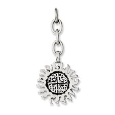 Chisel Stainless Steel Celtic Sun Interchangeable Charm Pendant