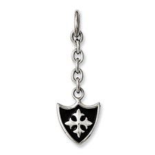 Chisel Stainless Steel Shield Interchangeable Charm Pendant