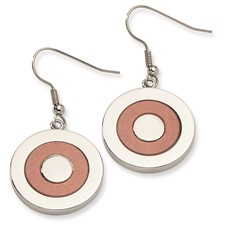 Chisel Stainless Steel Fancy Circle Dangle Earrings