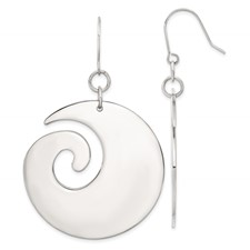 Chisel Stainless Steel Swirl Dangle Earrings