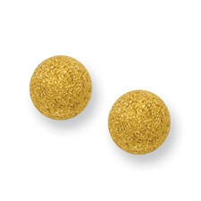 Chisel Stainless Steel Gold-plated Laser Cut 6mm Bead Post Earrings