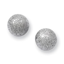 Chisel Stainless Steel Laser Cut 7mm Bead Post Earrings