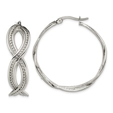 Chisel Stainless Steel 35mm Twisted Hoop Earrings