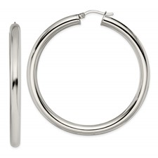 Chisel Stainless Steel Polished Hoops