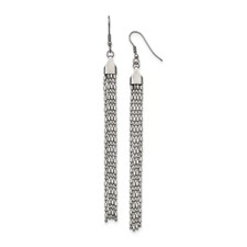 Chisel Stainless Steel Long Dangle Earrings