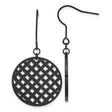 Stainless Steel Black IP-plated Dangle Earrings