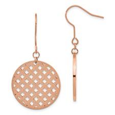 Chisel Stainless Steel Diamond Dust Rose Gold Dangle Earrings