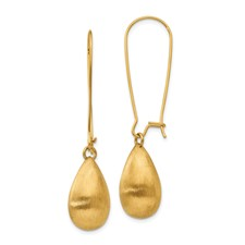 Stainless Steel Polished/Brushed Yellow IP-plated Earrings