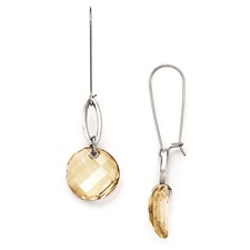 Stainless Steel with French Wire Crystal Earrings