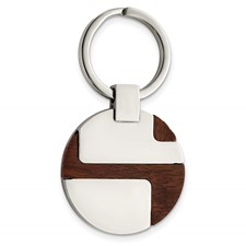 Chisel Stainless Steel Wood Key Chain