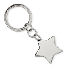 Stainless Steel Polished Star Key Chain