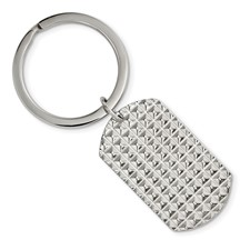 Stainless Steel Polished and Textured Key Chain