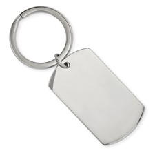 Stainless Steel Brushed and Polished 1.85mm Reversible Key Chain