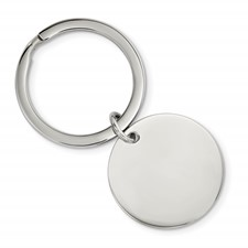 Stainless Steel Brushed and Polished 1.85mm Reversible Circle Key Chain