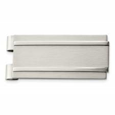 Chisel Stainless Steel Brushed and Polished Money Clip