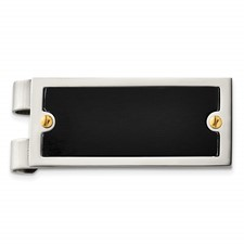 Chisel Stainless Steel 24k Black-plated Money Clip