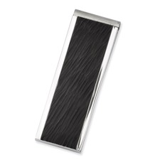 Chisel Stainless Steel Textured Black-plated Money Clip