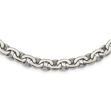 Chisel Stainless Steel Polished Ovals 24 inch Necklace