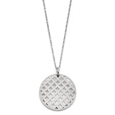 Chisel Stainless Steel Diamond Dust Pendant Necklace