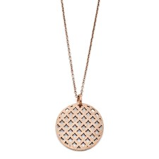 Chisel Stainless Steel Diamond Dust Rose Gold Pendant Necklace