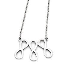 Chisel Stainless Steel Infinity Symbol Polished Necklace