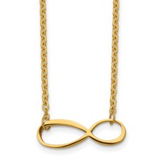 Chisel Stainless Steel Infinity Yellow IP-plated Polished Necklace