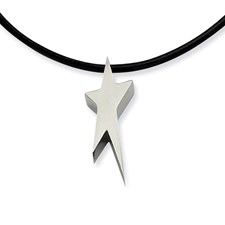 Chisel Stainless Steel Star Necklace